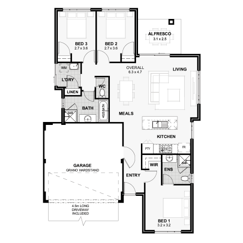 Floorplan for Lot 140 Monolith way, Wellard