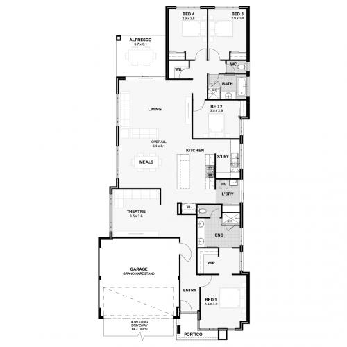 Floorplan for The Brooklyn
